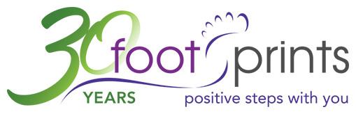 Footprints 30 Year Anniversary logo