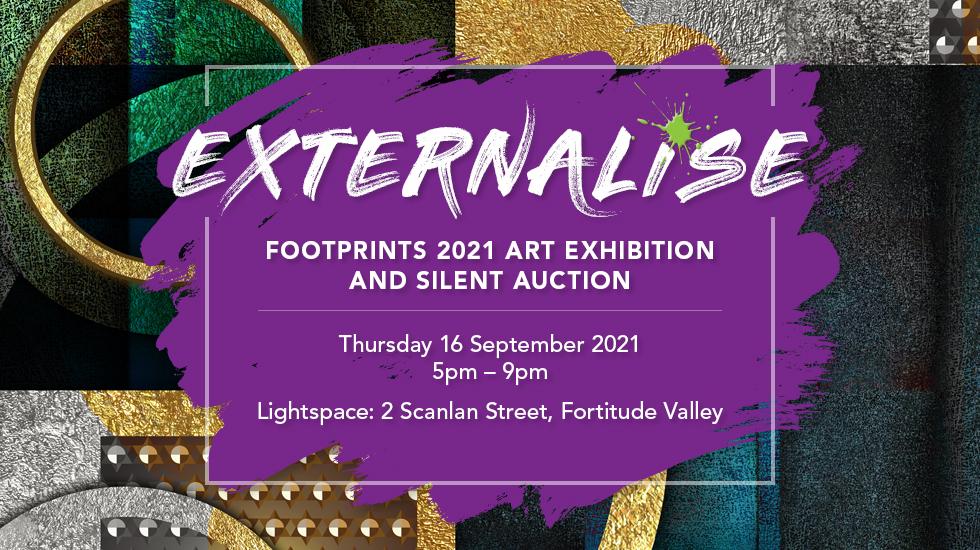 Footprints 2021 Art Exhibition invite banner