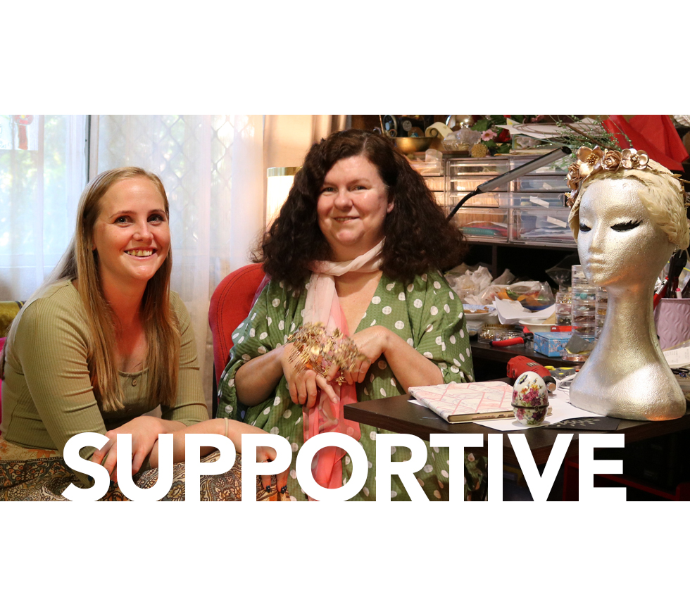 Footprints 30 Year Anniversary story on Suzie featuring the value SUPPORTIVE