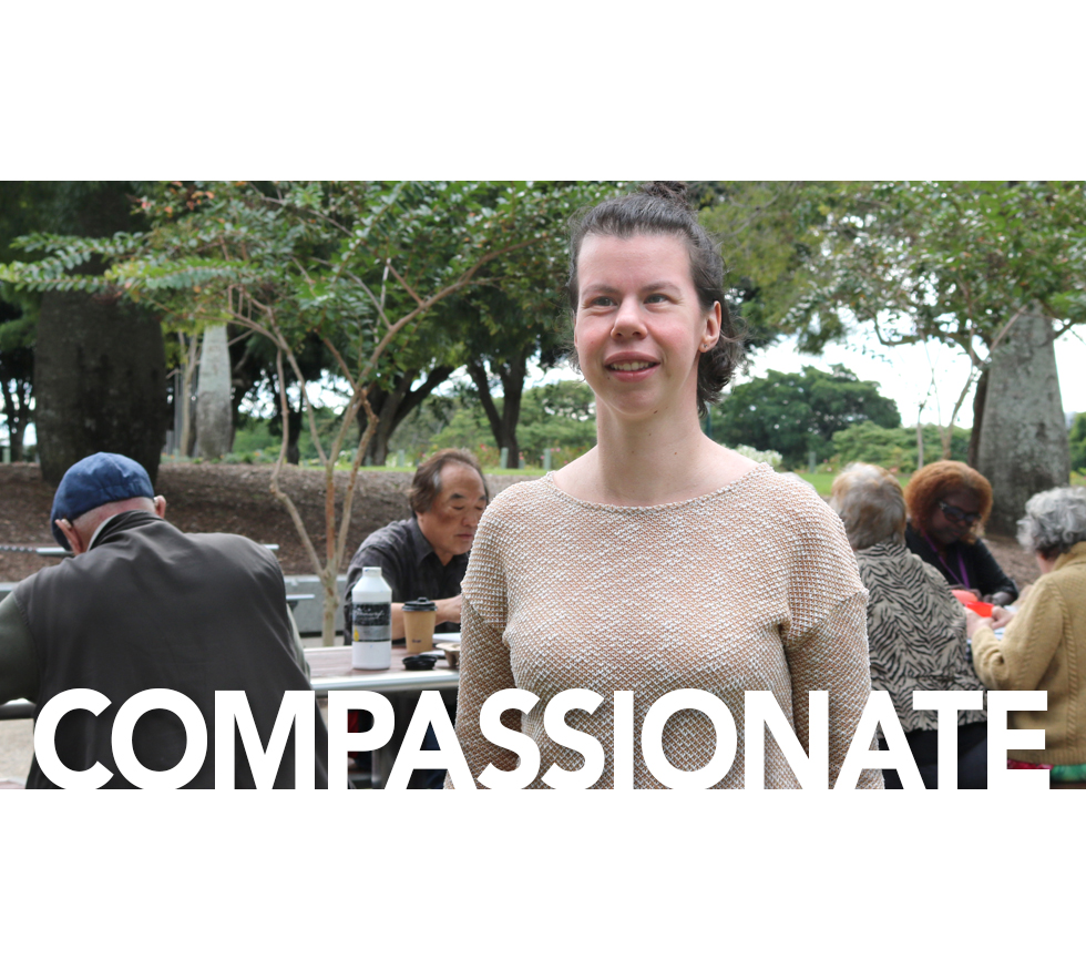 Footprints 30 Year Anniversary story on Jacqui featuring the value COMPASSIONATE
